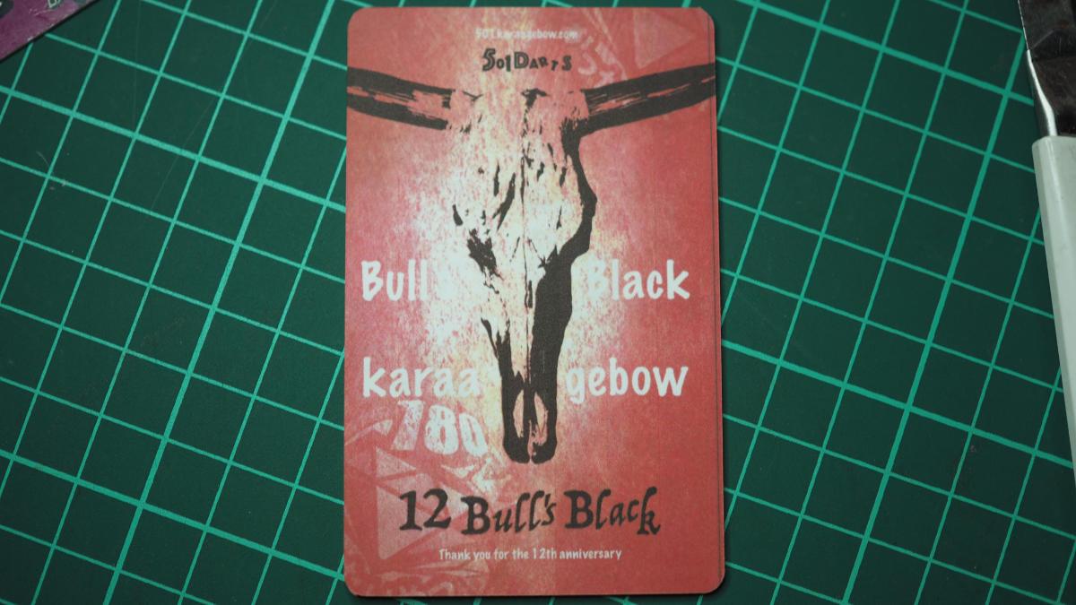 オリジナルライブカード オリジナルフェニックスカード シール 完成